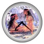 Native American Indian Warrior Fantasy Themed Wall Clock / Day Dreamers